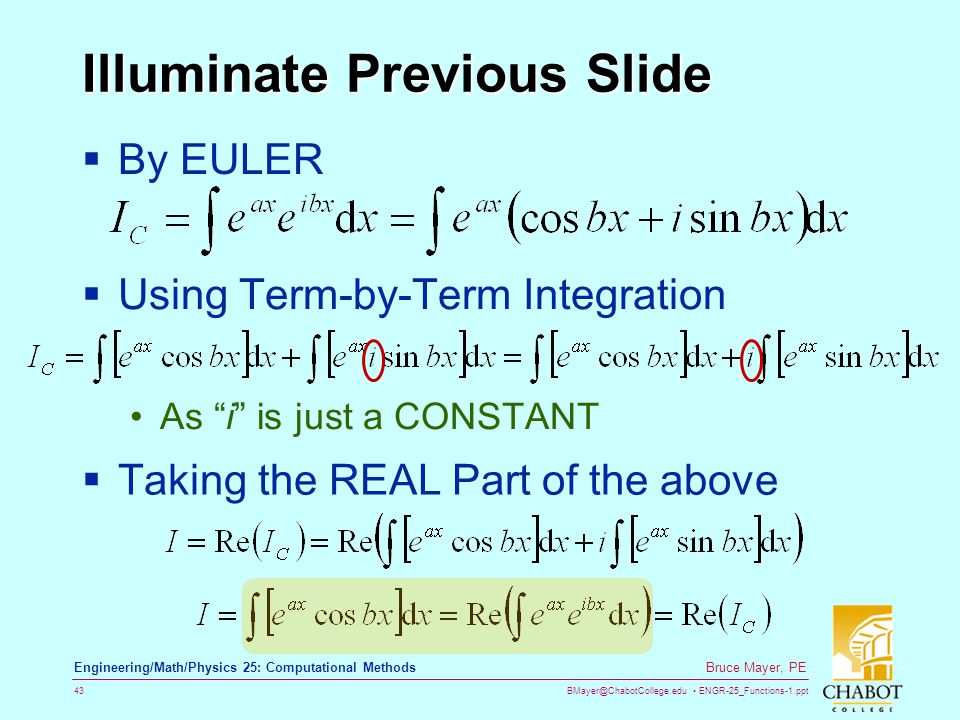 Illuminate Previous Slide