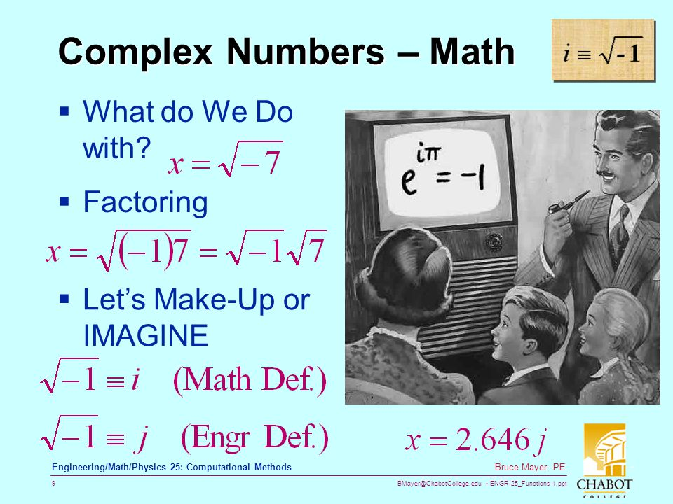 Complex Numbers – Math What do We Do with Factoring