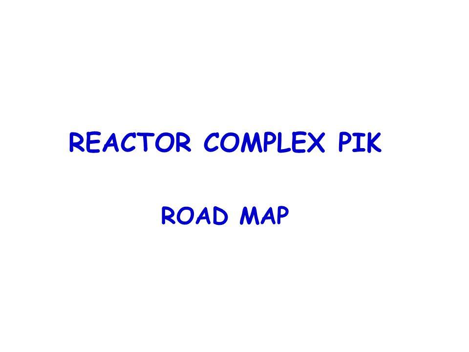 REACTOR COMPLEX PIK ROAD MAP Reactor WWR-M Proton synchrocyclotron