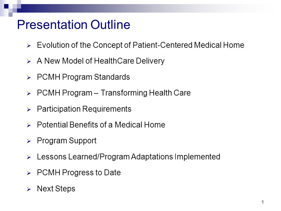 Evolution of the Concept of Patient-Centered Medical Home