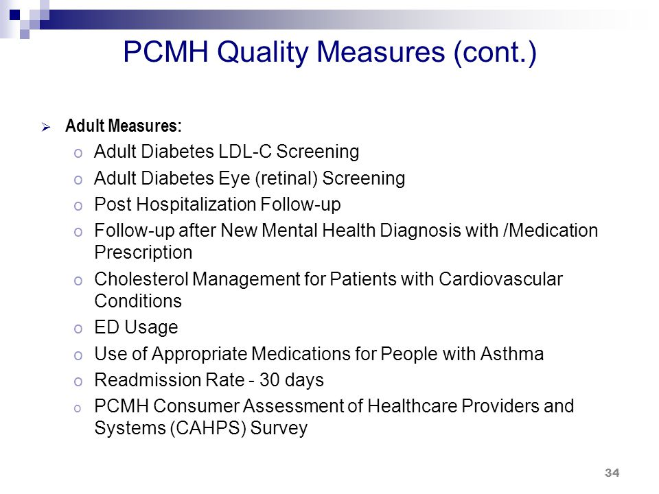 Statewide Quality Measures Performance Comparison CY 2012 Results