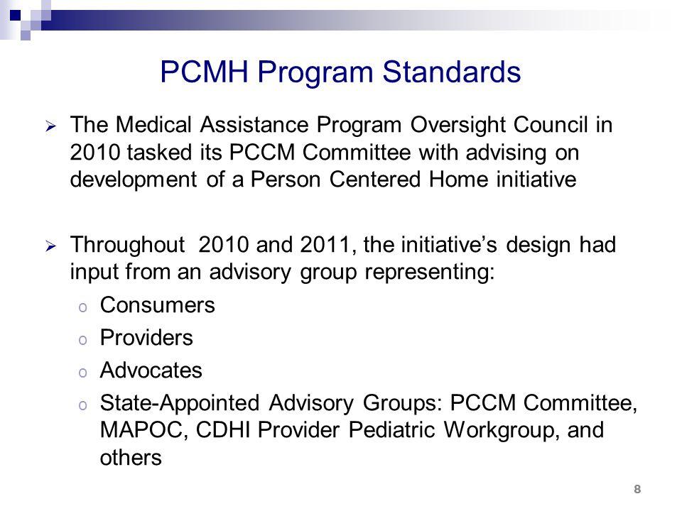 PCMH Program Standards (cont.)