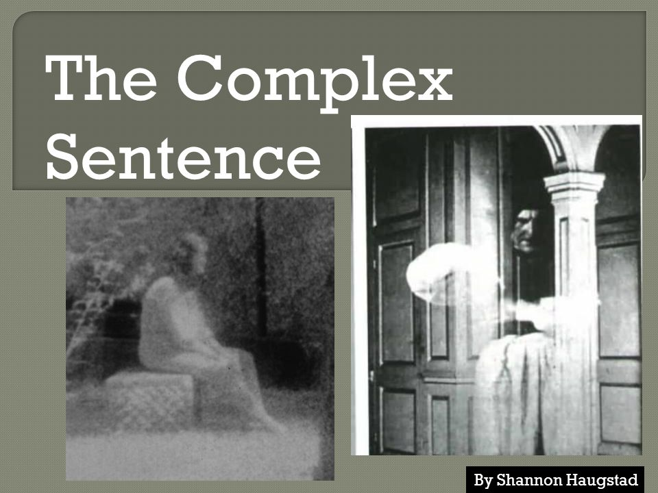 The Complex Sentence By Shannon Haugstad