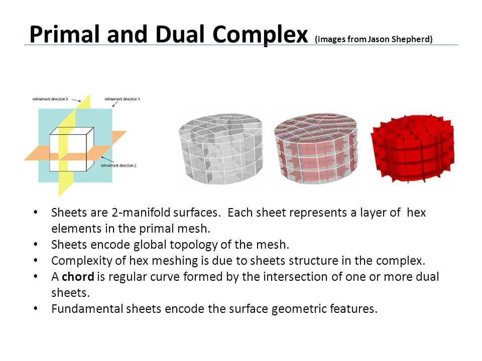 Primal and Dual Complex (images from Jason Shepherd)