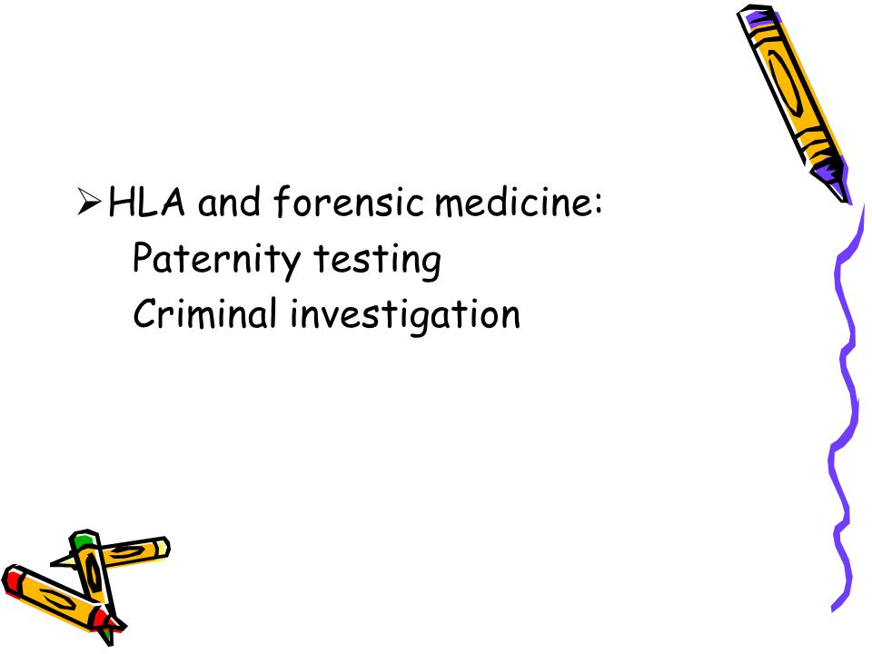 HLA and forensic medicine: