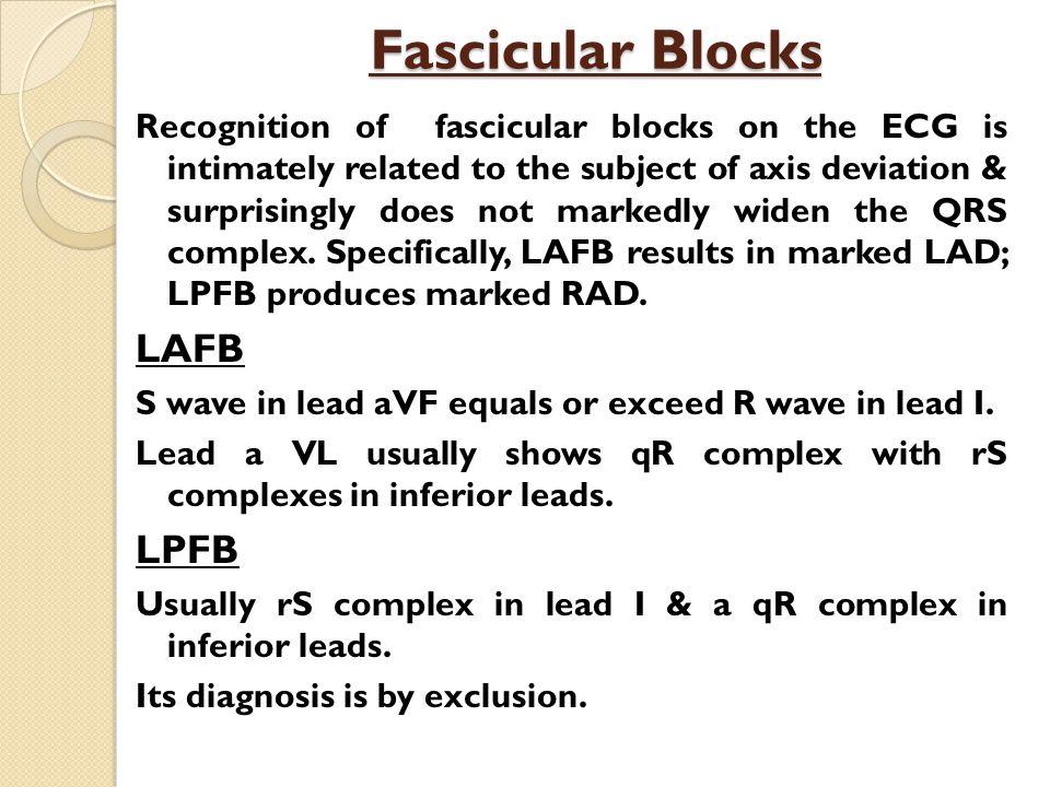 Fascicular Blocks LAFB LPFB