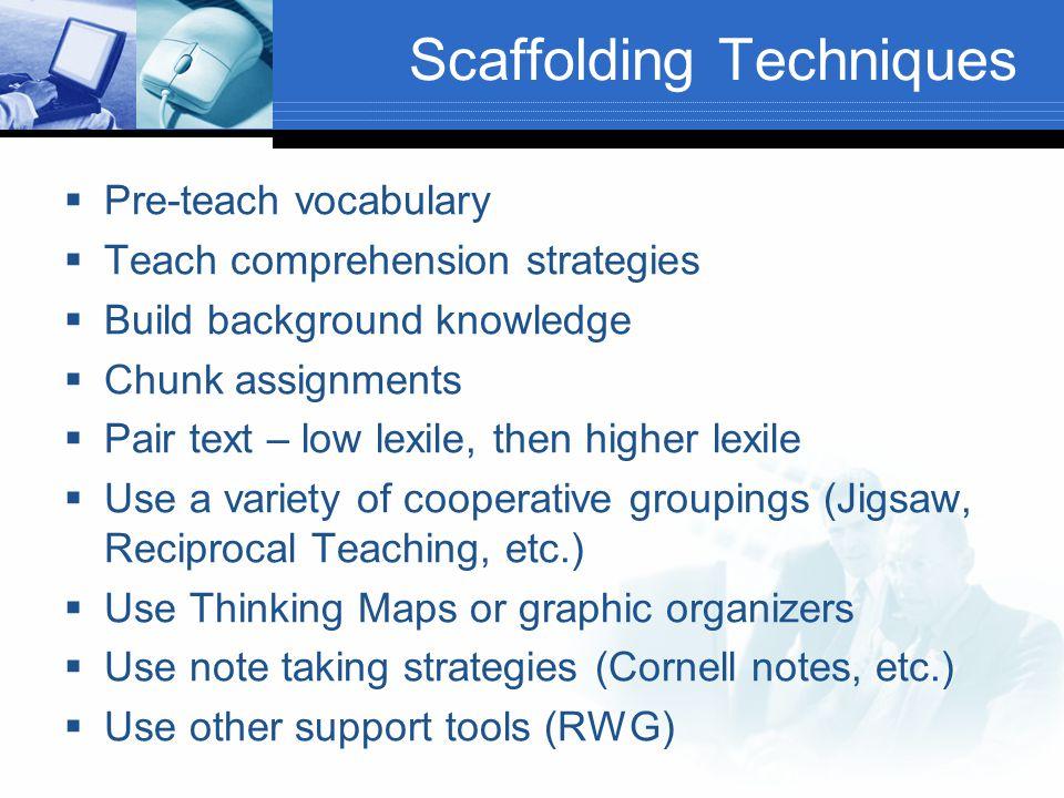 Scaffolding Techniques