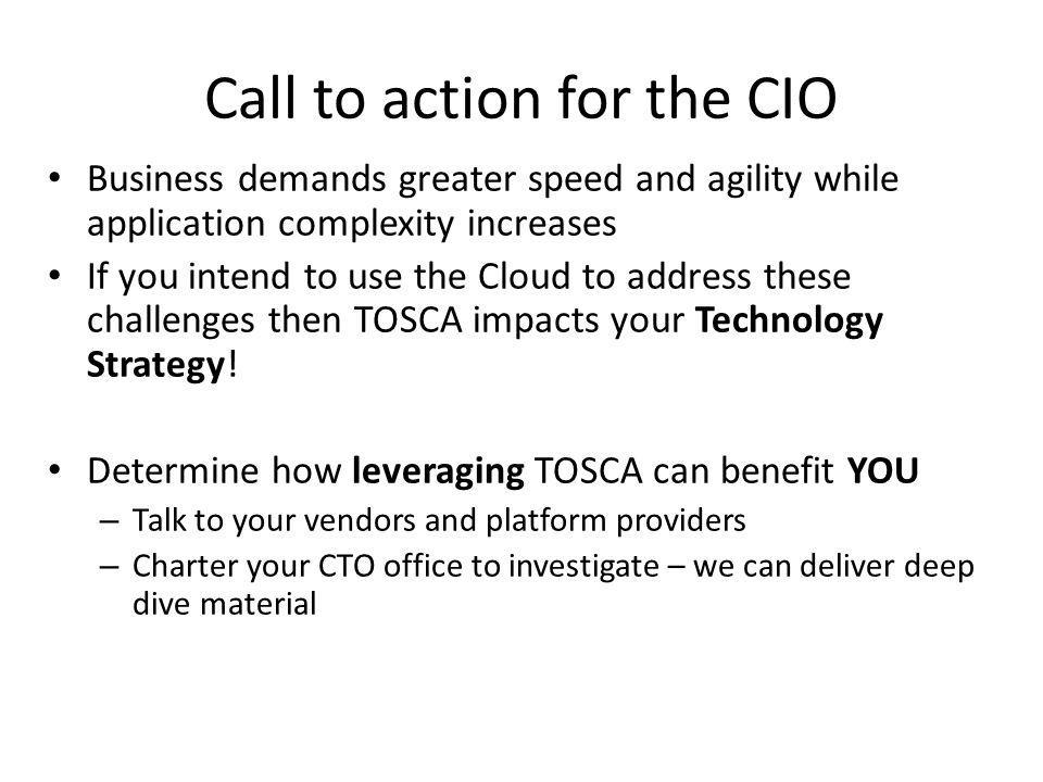 Call to action for the CIO