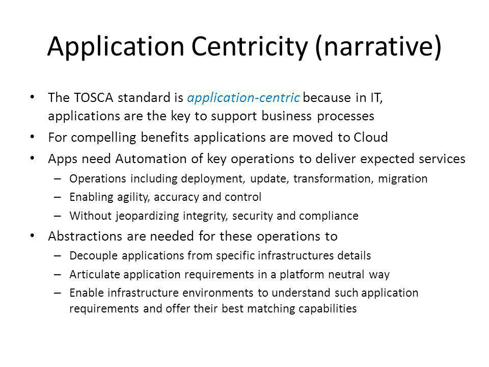 Application Centricity (narrative)