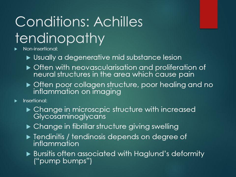 Conditions: Achilles tendinopathy