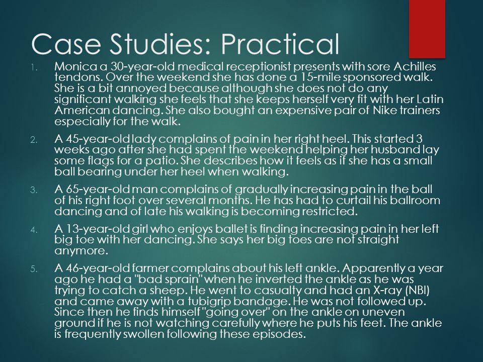 Case Studies: Practical