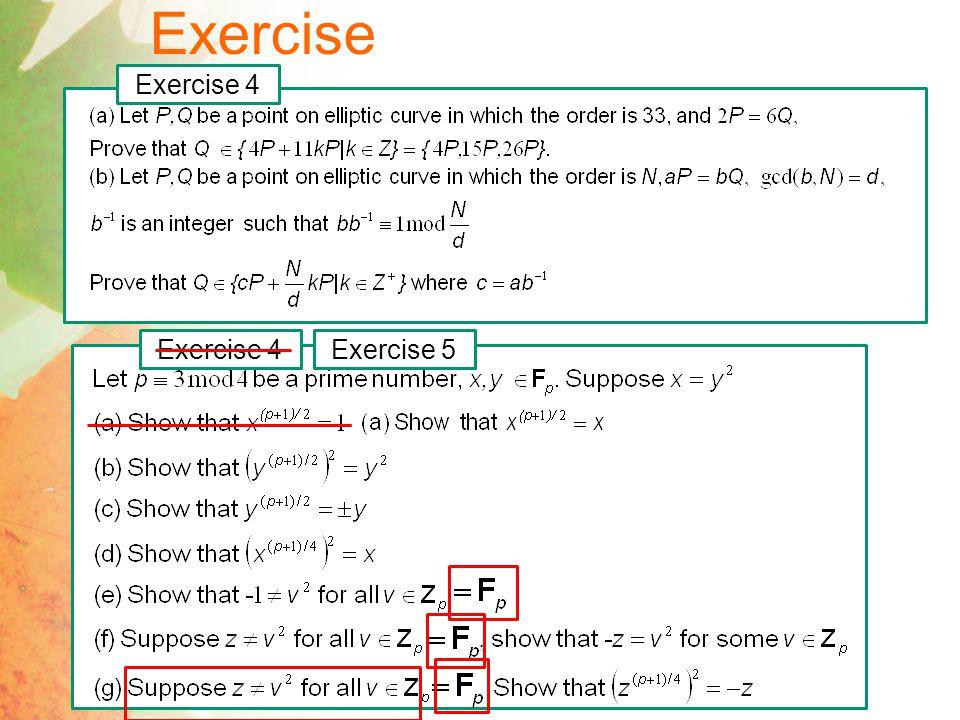 Exercise Exercise 4 Exercise 4 Exercise 5