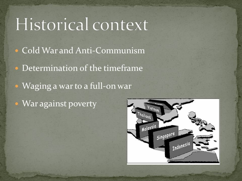 Historical context Cold War and Anti-Communism