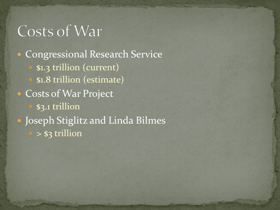 Costs of War Congressional Research Service Costs of War Project