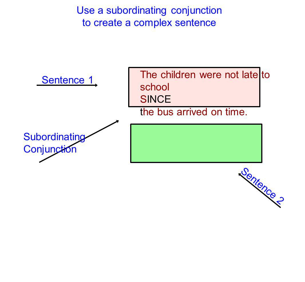 Use a subordinating conjunction to create a complex sentence