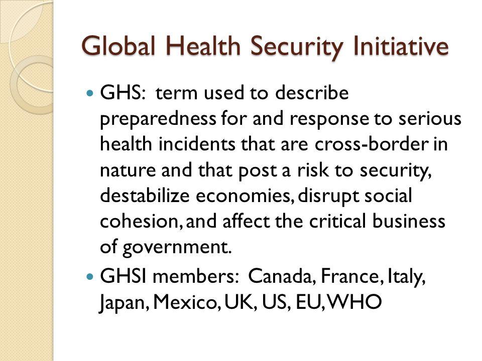 Global Health Security Initiative
