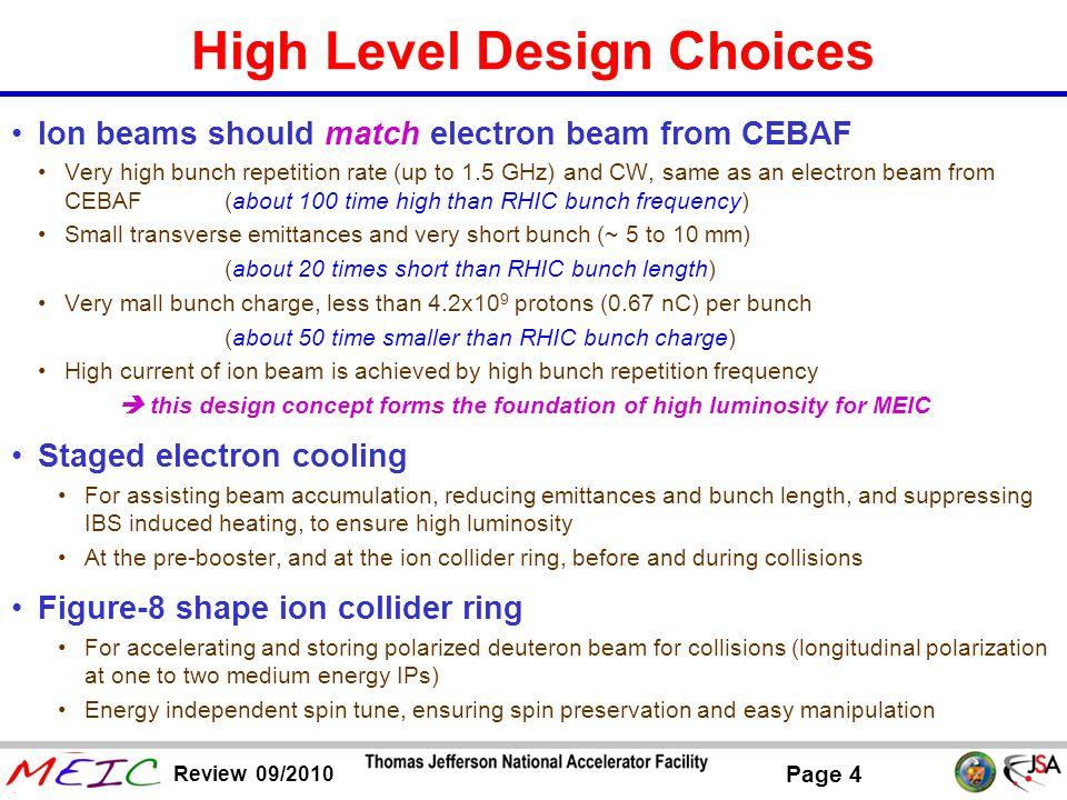 High Level Design Choices