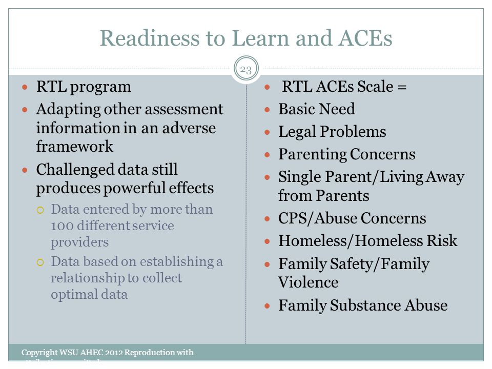 Readiness to Learn and ACEs