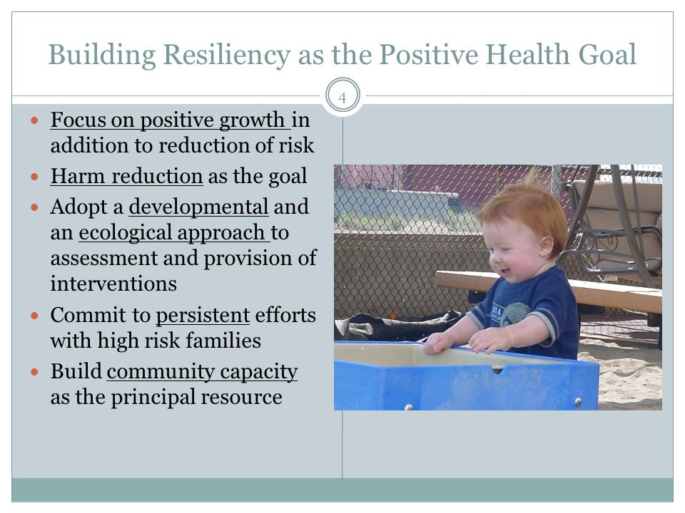 Building Resiliency as the Positive Health Goal