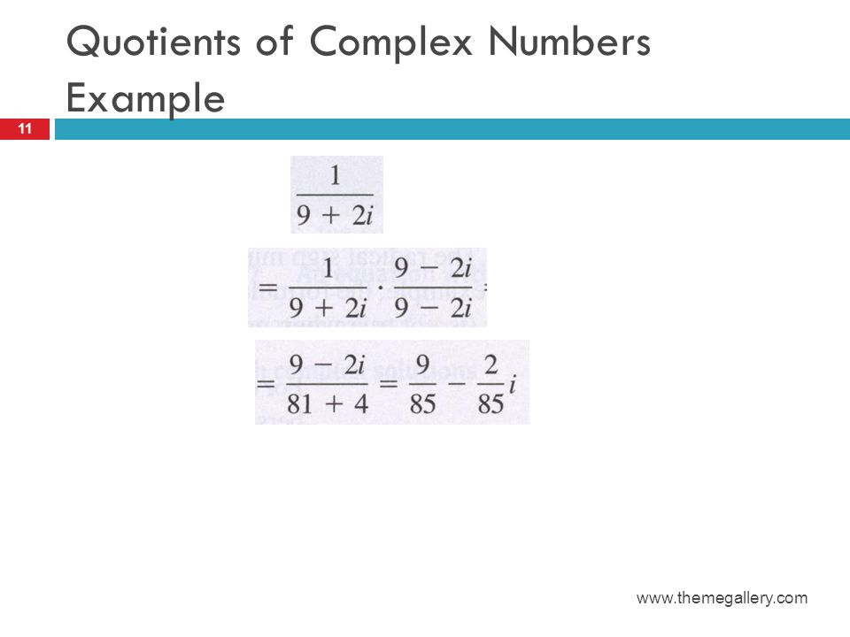 Quotients of Complex Numbers Example