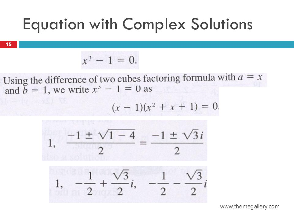 Equation with Complex Solutions