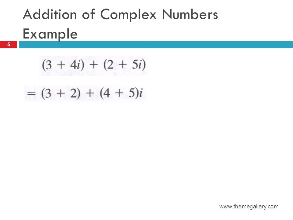 Addition of Complex Numbers Example