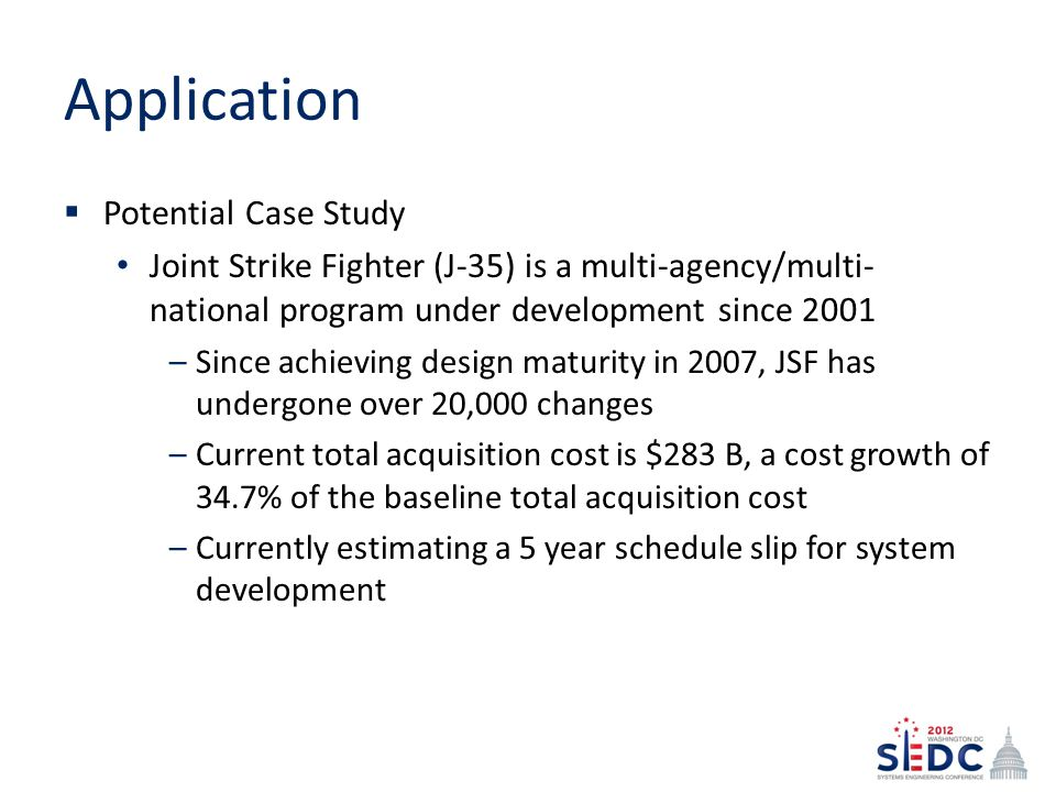 Application Potential Case Study