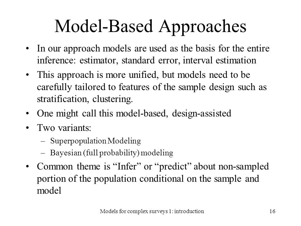 Model-Based Approaches