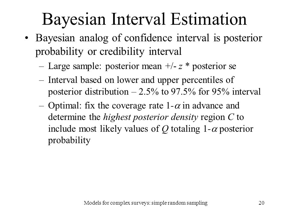 Bayesian Interval Estimation