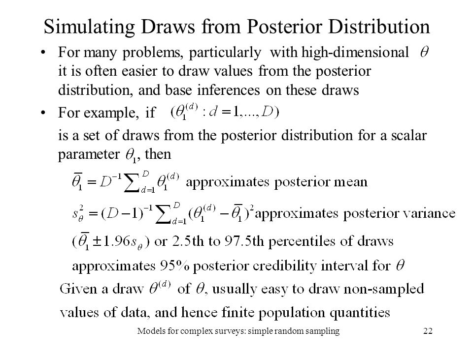 Simulating Draws from Posterior Distribution