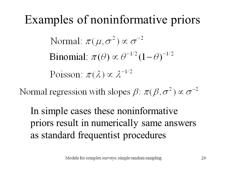 Examples of noninformative priors