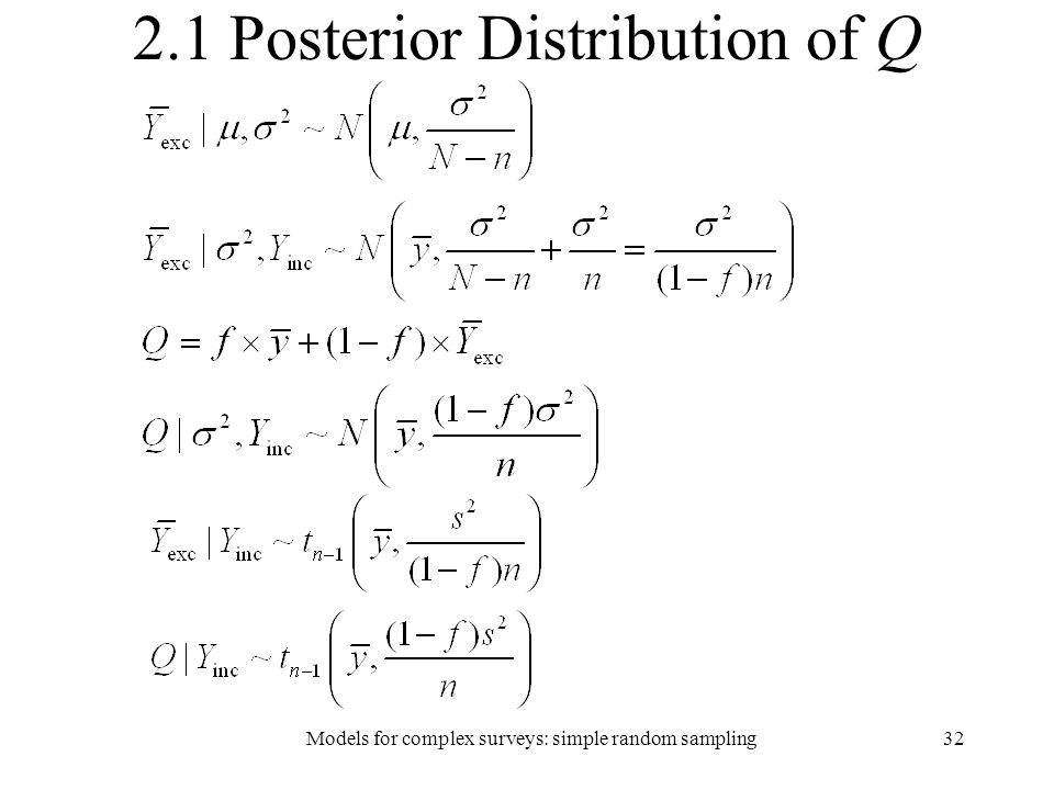 2.1 Posterior Distribution of Q