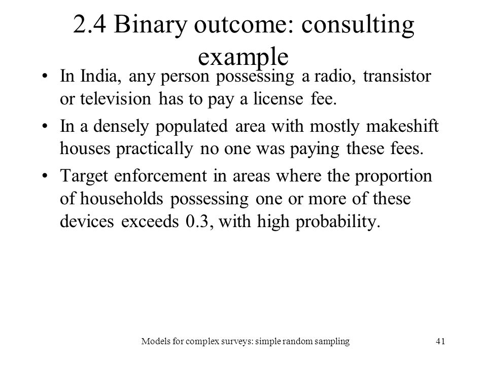 2.4 Binary outcome: consulting example