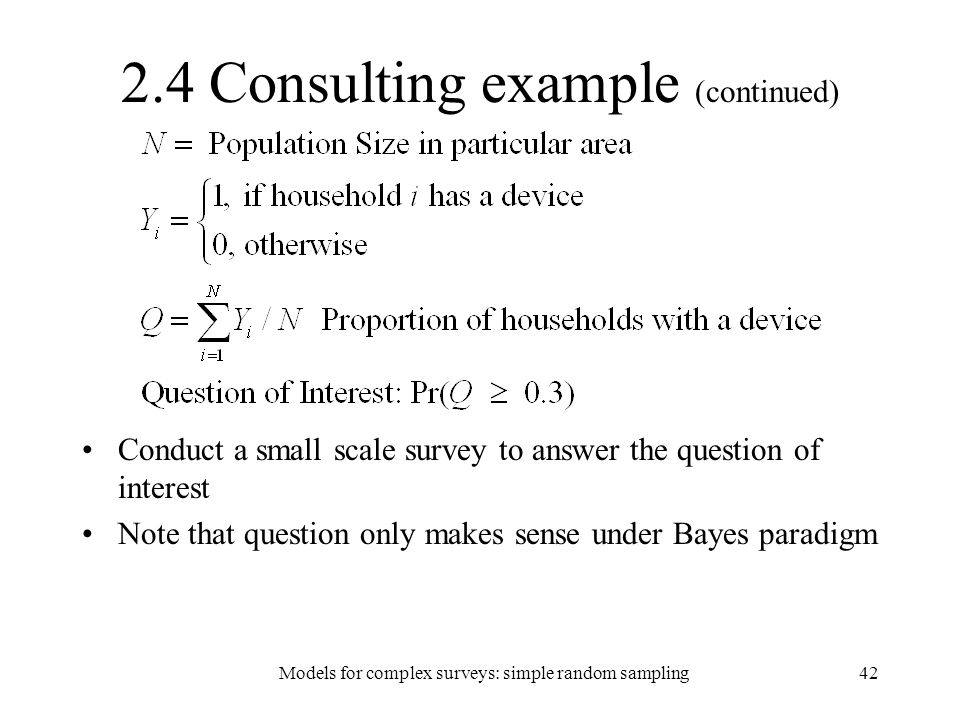2.4 Consulting example (continued)