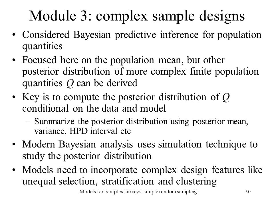 Module 3: complex sample designs