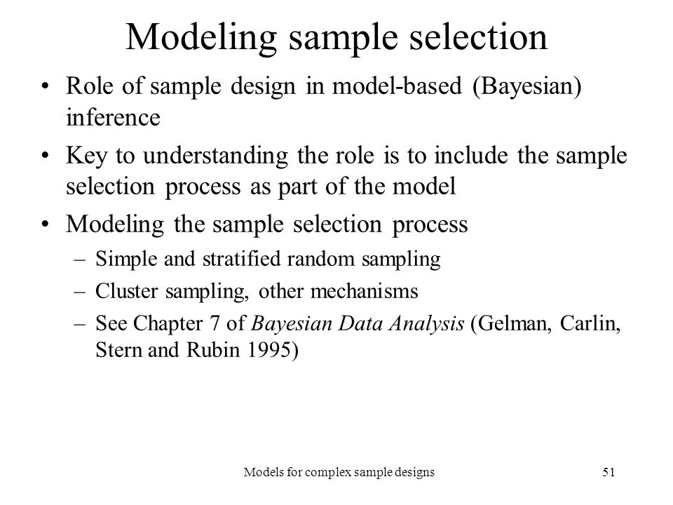 Modeling sample selection