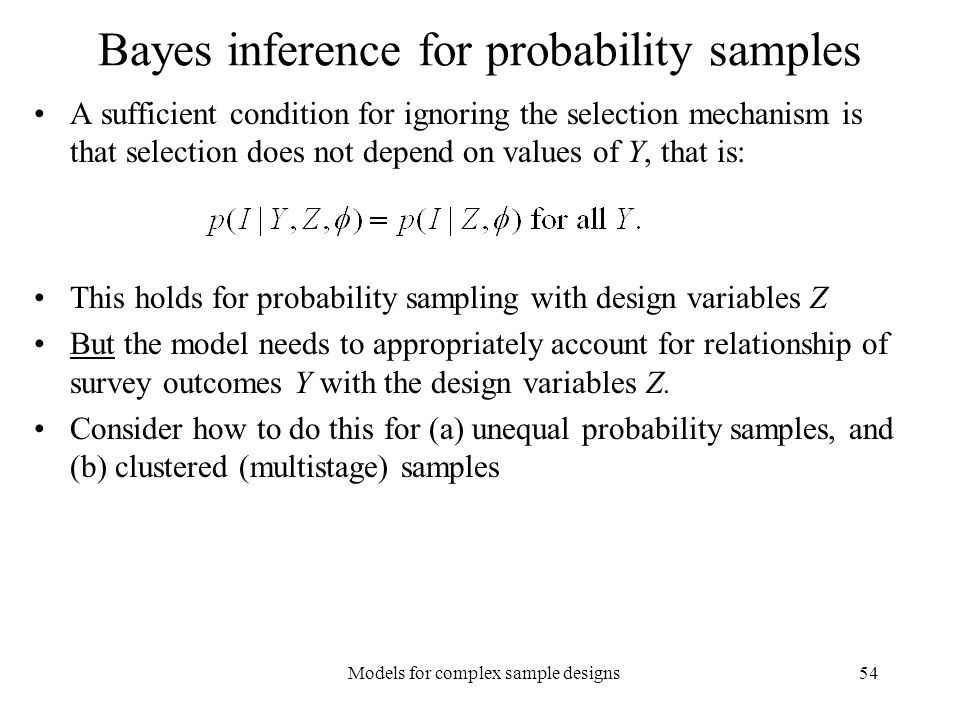Bayes inference for probability samples
