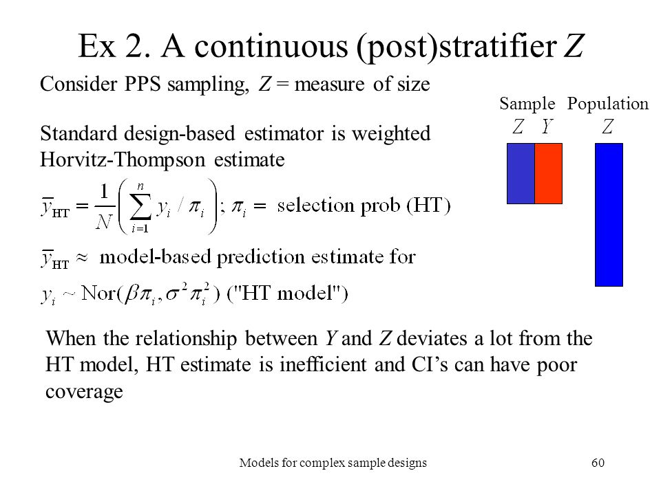 Ex 2. A continuous (post)stratifier Z