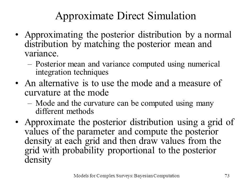 Approximate Direct Simulation