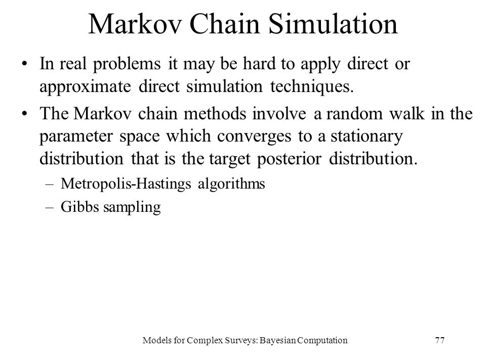 Markov Chain Simulation