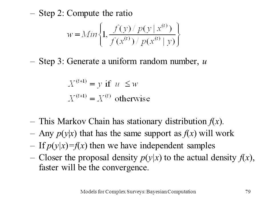 Models for Complex Surveys: Bayesian Computation