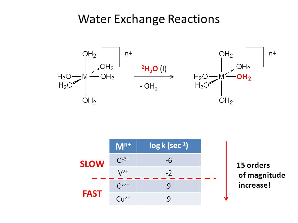 Water Exchange Reactions