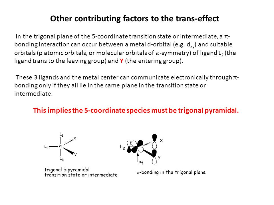 Other contributing factors to the trans-effect