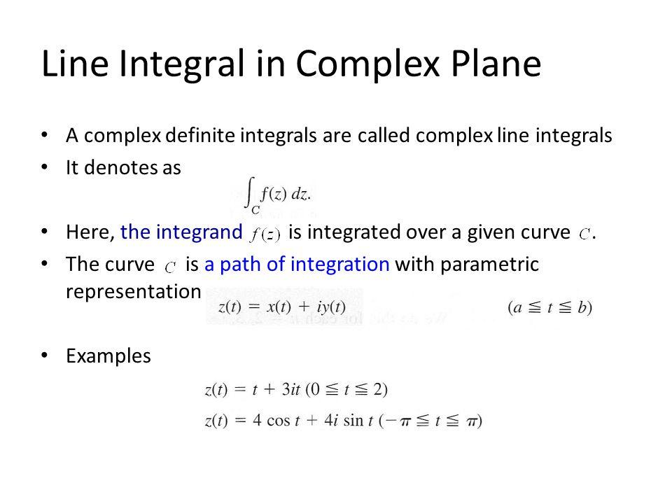 Line Integral in Complex Plane