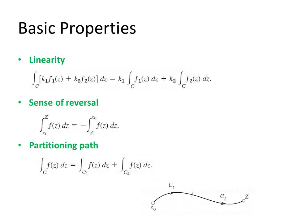 Basic Properties Linearity Sense of reversal Partitioning path