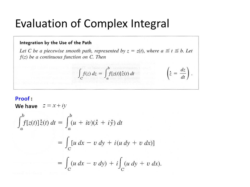 Evaluation of Complex Integral