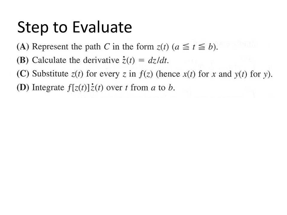 Step to Evaluate