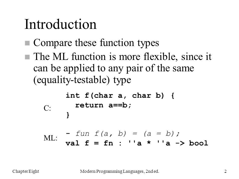 Modern Programming Languages, 2nd ed.