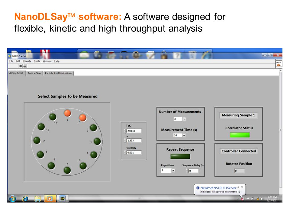 Product & Services NanoDLSay™ software: A software designed for flexible, kinetic and high throughput analysis.