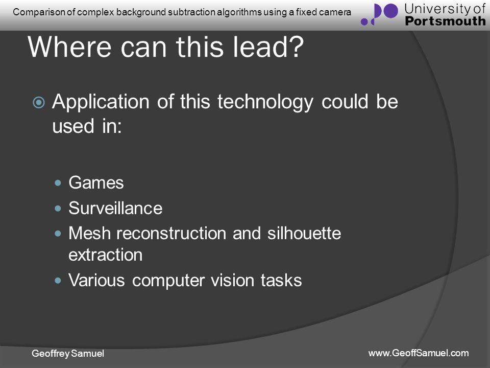 Where can this lead Application of this technology could be used in: